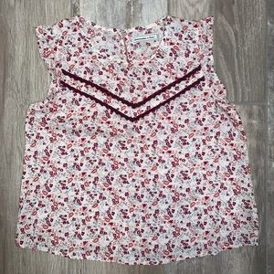 ABERCROMBIE AND FITCH Floral Cap Sleeve Blouse M